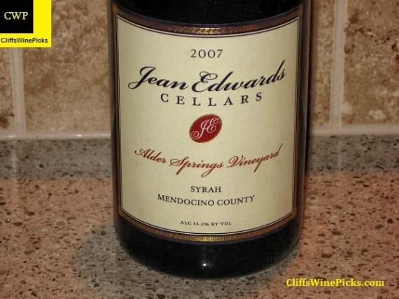 2007 Jean Edwards Alder Springs Vineyard Syrah