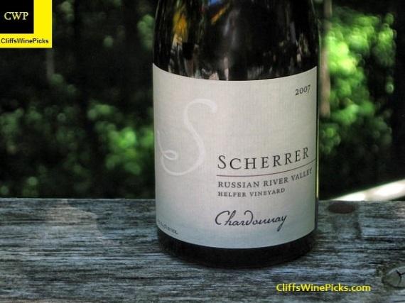 2007 Scherrer Winery Chardonnay Helfer Vineyard