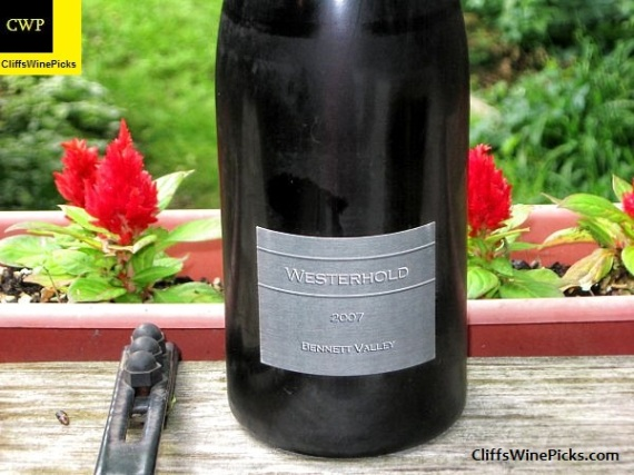 2007 Westerhold Family Vineyards Syrah Westerhold Vineyard