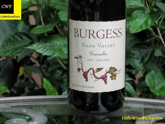 2007 Burgess Grenache Napa Valley