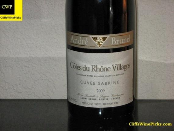 2009 Domaine Andre Brunel Cotes du Rhone Villages Cuvee Sabrine
