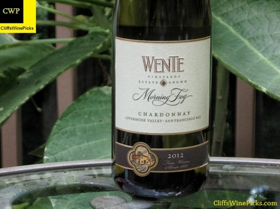 2012 Wente Vineyards Chardonnay Morning Fog Livermore Valley