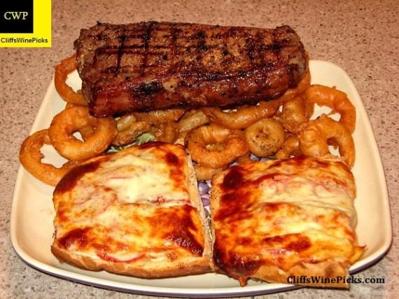 Strip Steak dinner
