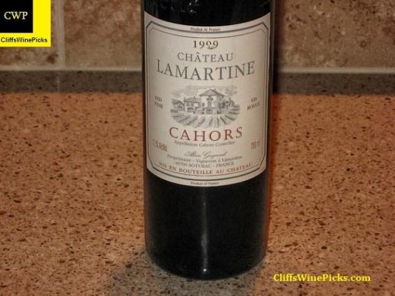 1999 Chateau Lamartine Cahors