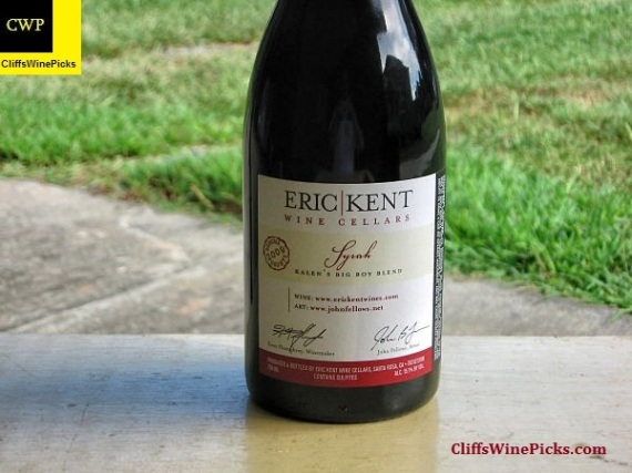 2009 Eric Kent Wine Cellars Syrah Kalen's Big Boy Blend