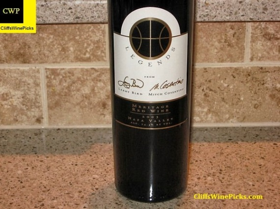 2003 Cosentino Winery Legends Meritage