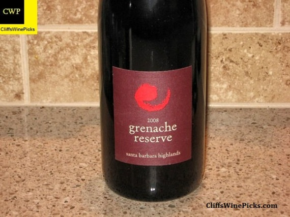 2008 Core Grenache Reserve Santa Barbara Highlands