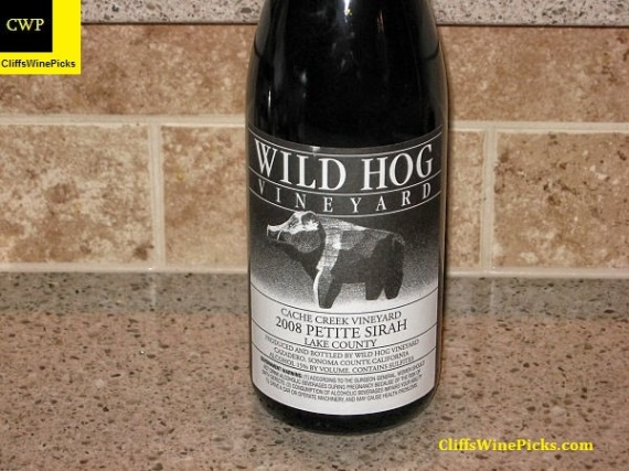 2008 Wild Hog Vineyard Petite Sirah Cache Creek