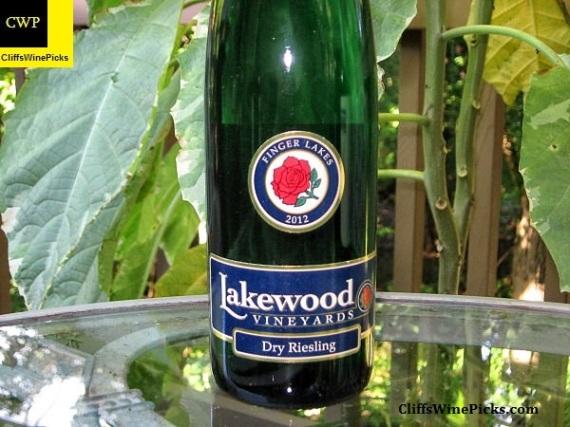 2012 Lakewood Vineyards Riesling Dry Riesling Seneca Lake