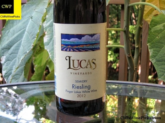 2012 Lucas Vineyards Riesling Semi-Dry Cayuga Lake