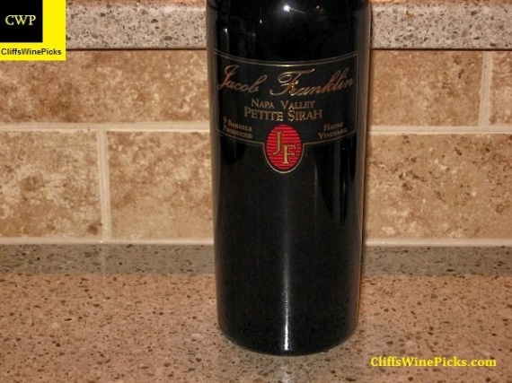 2002 Jacob Franklin Petite Sirah Hayne Vineyard