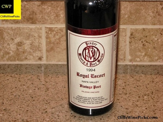 1994 Prager Winery and Port Works Petite Sirah Royal Escort Vintage Port Paladini Vineyard
