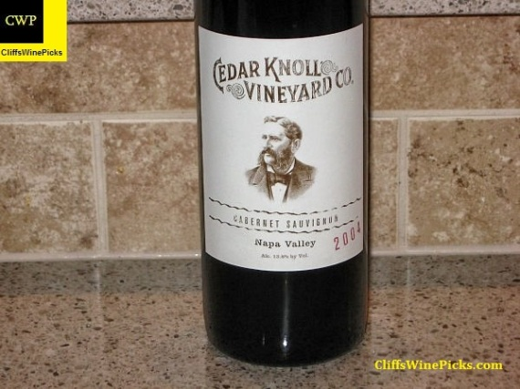 2004 Palmaz Vineyards Cabernet Sauvignon Cedar Knoll Vineyard Co.