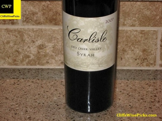 2007 Carlisle Syrah Dry Creek Valley