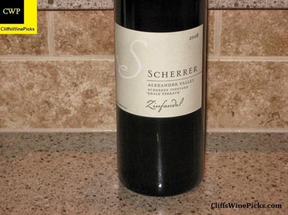 2008 Scherrer Winery Zinfandel Scherrer Shale Terrace