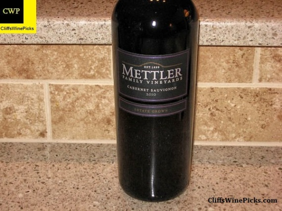 2010 Mettler Family Vineyards Cabernet Sauvignon Estate Grown
