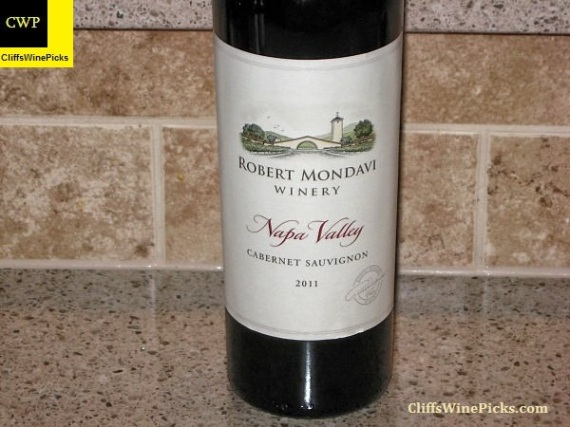 2011 Robert Mondavi Winery Cabernet Sauvignon Napa Valley