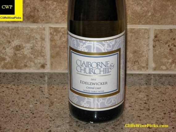 2012 Claiborne and Churchill Edelzwicker Proprietors' Blend