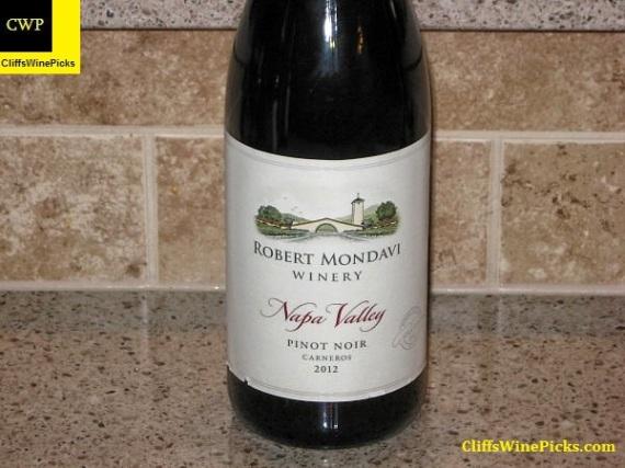 2012 Robert Mondavi Winery Pinot Noir