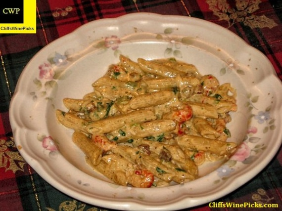 Crawfish and Pasta with Tasso Cream Sauce