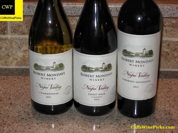 Robert Mondavi line up