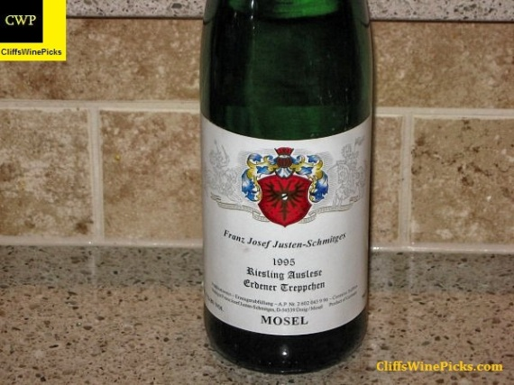 1995 Weingut Franz-Joseph Justen-Schmitges Erdener Treppchen Riesling Auslese