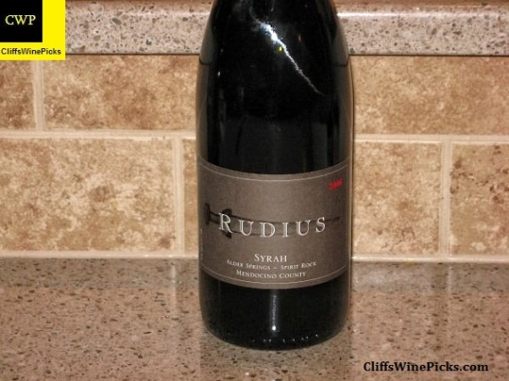 2006 Rudius Syrah Spirit Rock Alder Springs Vineyard