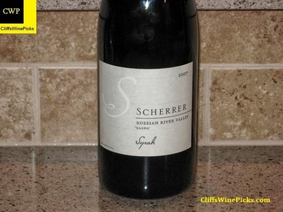 2007 Scherrer Winery Syrah Sasha