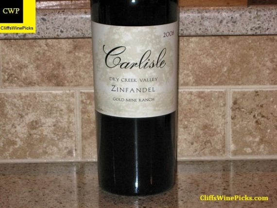 2008 Carlisle Zinfandel Gold Mine Ranch