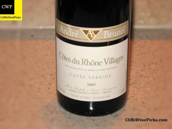 2009 Domaine André Brunel Côtes du Rhône Villages Cuvée Sabrine