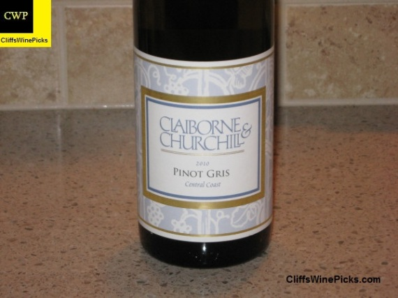 2010 Claiborne and Churchill Pinot Gris