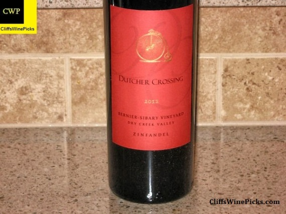2012 Dutcher Crossing Zinfandel Bernier-Sibary Vineyard