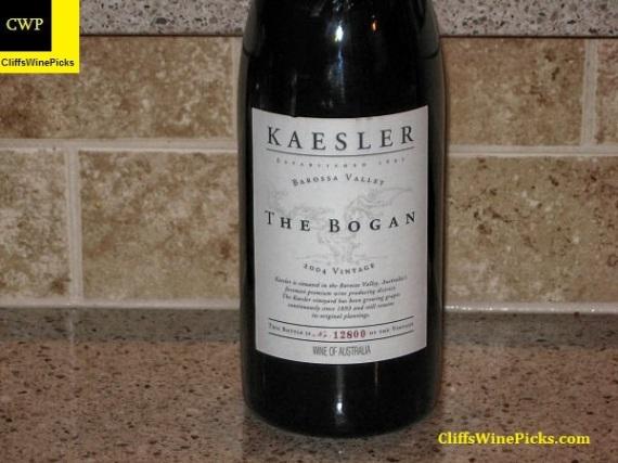 2004 Kaesler Shiraz The Bogan