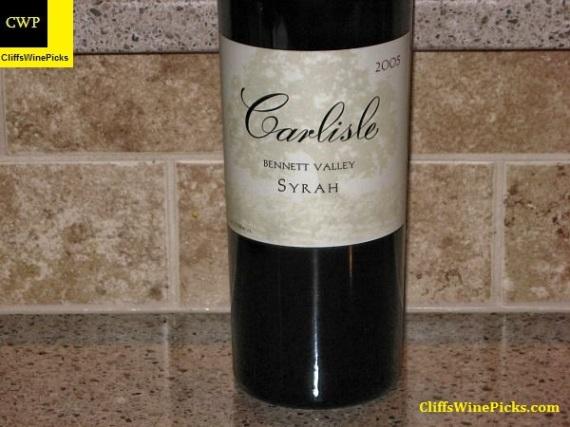 2005 Carlisle Syrah Bennett Valley