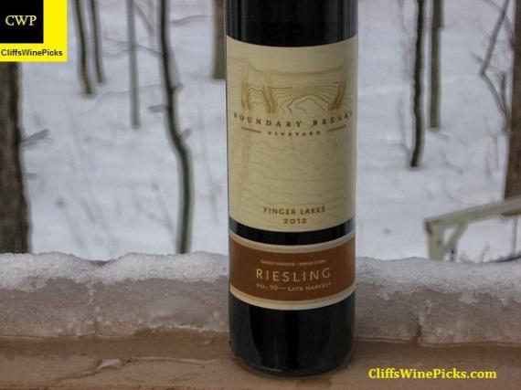 2012 Boundary Breaks Vineyard Riesling No. 90 Late Harvest