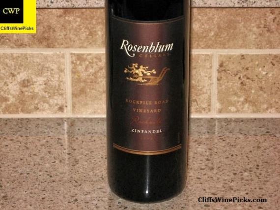 2008 Rosenblum Cellars Zinfandel Rockpile Road Vineyard
