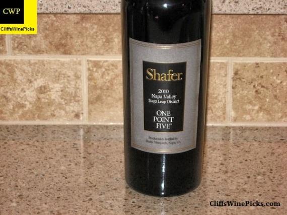 2010 Shafer Cabernet Sauvignon One Point Five