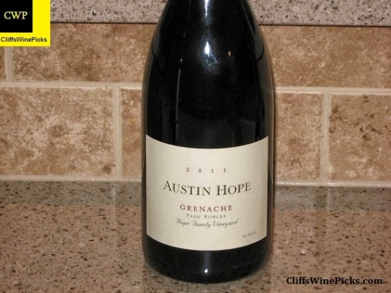 2011 Austin Hope Grenache Hope Family Vineyard