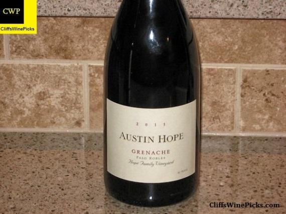 2011 Austin Hope Grenache Hope Family Vineyard