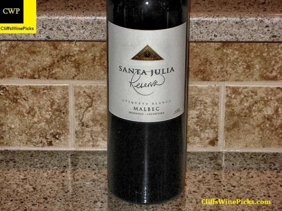 2012 Familia Zuccardi Malbec Santa Julia Reserva