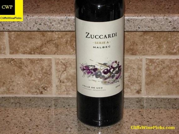 2012 Familia Zuccardi Malbec Serie A Valle de Uco
