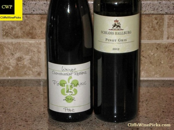 Pinot Blanc and Pinot Gris