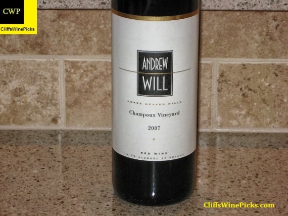 2007 Andrew Will Champoux Vineyard