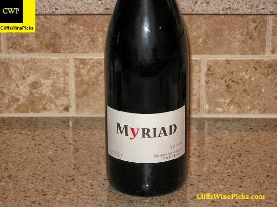 2007 Myriad Cellars Syrah Las Madres Vineyard