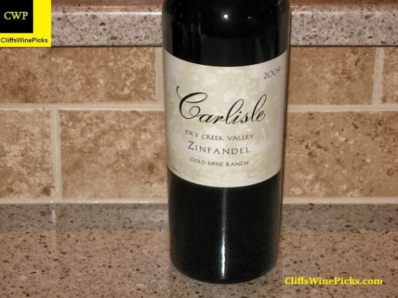 2009 Carlisle Zinfandel Gold Mine Ranch