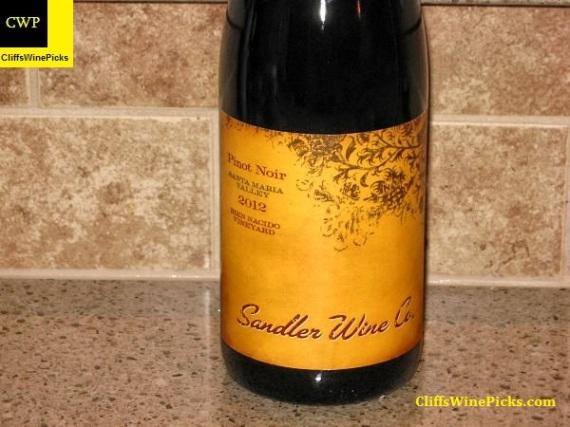 2012 Sandler Wine Company Pinot Noir Bien Nacido Vineyard