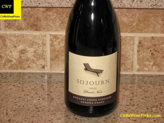 2012 Sojourn Pinot Noir Rodgers Creek Vineyard Sonoma Coast