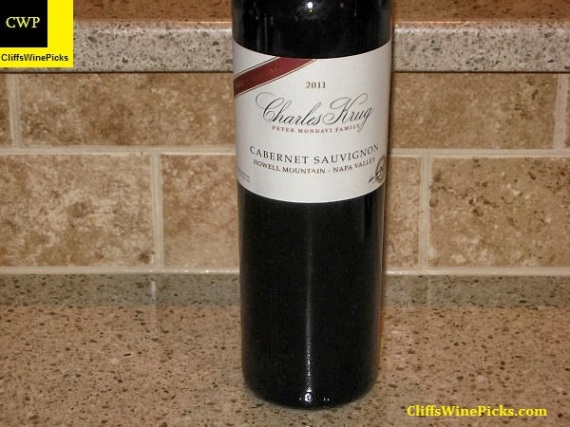 2011 Charles Krug Winery (Peter Mondavi Family) Cabernet Sauvignon Family Reserve Howell Mountain