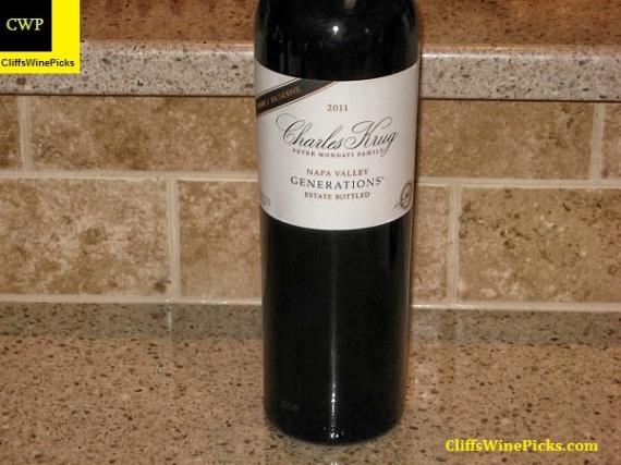 2011 Charles Krug Winery (Peter Mondavi Family) Family Reserve Generations