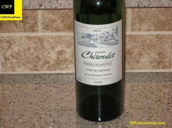 2012 Domaine Chiroulet Vin de Pays des Côtes de Gascogne Les Terres Blanches